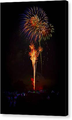 Small Town Celebration Canvas Print by David Hahn