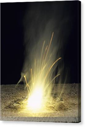 Sodium Burning In Air Canvas Print by Andrew Lambert Photography