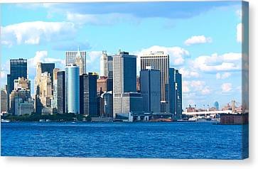 South Ferry Water Ride32 Canvas Print by Terry Wallace
