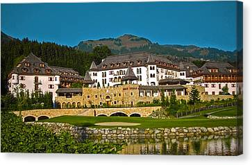 Spa Resort A-rosa - Kitzbuehel Canvas Print by Juergen Weiss