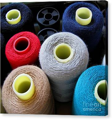 Spools Of Yarn Canvas Print by Yali Shi