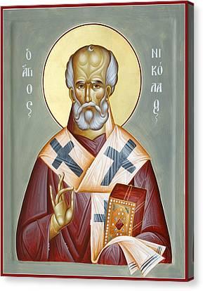 St Nicholas Of Myra Canvas Print by Julia Bridget Hayes