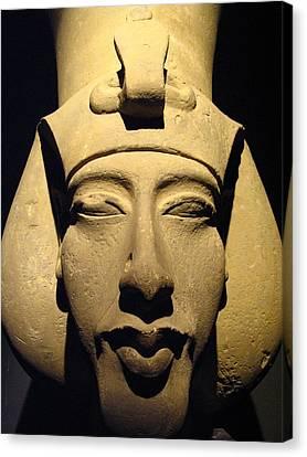 Statue Of Pharaoh Akhenaten, Also Known Canvas Print by Richard Nowitz