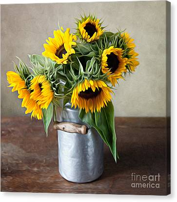 Sunflowers Canvas Print by Nailia Schwarz