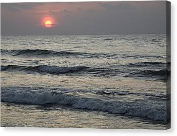 Sunrise Over Arabian Sea Hawf Protected Canvas Print by Sebastian Kennerknecht