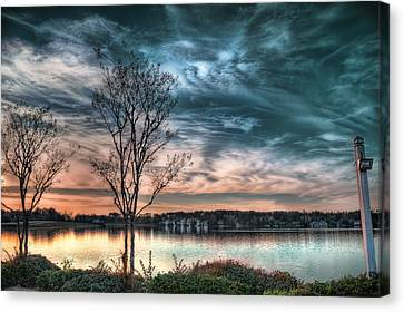 Sunset Over Canebrake Canvas Print by Brenda Bryant