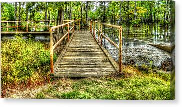 Swamp Dock Canvas Print by Ester  Rogers
