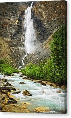 Takakkaw Falls Waterfall In Yoho National Park Canada Canvas Print by Elena Elisseeva