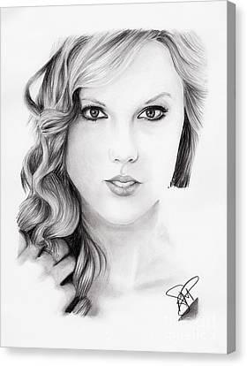 Taylor Swift 2 Canvas Print by Rosalinda Markle