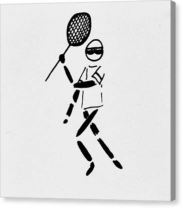 Tennis Guy Canvas Print by Robin Lewis