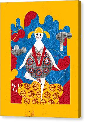 That Dress Looks Nice On You Canvas Print by Luciano Lozano