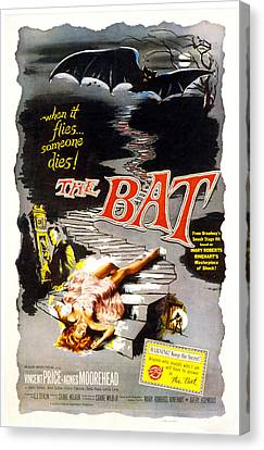 The Bat, Vincent Price, 1959 Canvas Print by Everett