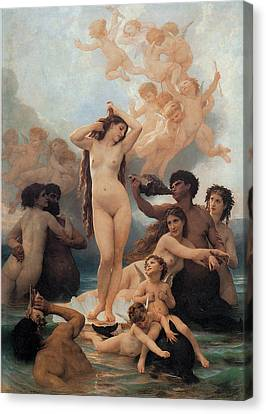 The Birth Of Venus Canvas Print by William-Adolphe Bouguereau