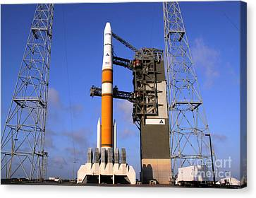 The Delta Iv Rocket That Will Launch Canvas Print by Stocktrek Images