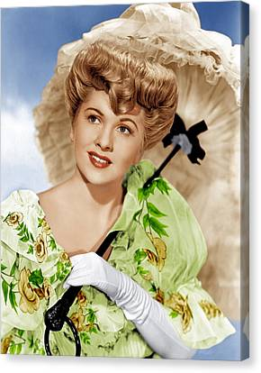 The Emperor Waltz, Joan Fontaine, 1948 Canvas Print by Everett