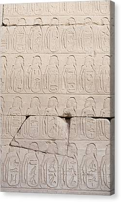The Figures Of Prisoners On A Temple Canvas Print by Taylor S. Kennedy
