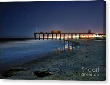 The Fishing Pier Canvas Print by Paul Ward