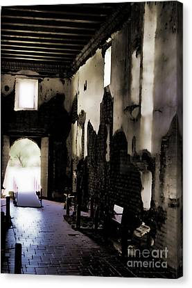 The Ghostly Nave Canvas Print by Donna Greene