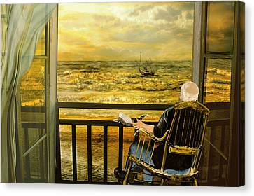 The Old Man And The Sea Canvas Print by Anne Weirich