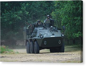 The Pandur Recce Vehicle In Use Canvas Print by Luc De Jaeger