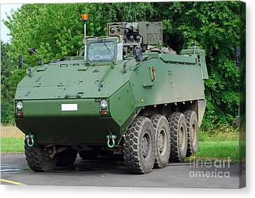 The Piranha IIic Of The Belgian Army Canvas Print by Luc De Jaeger
