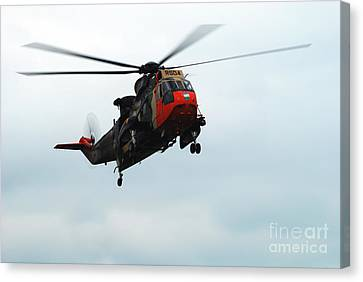 The Sea King Helicopter In Use Canvas Print by Luc De Jaeger