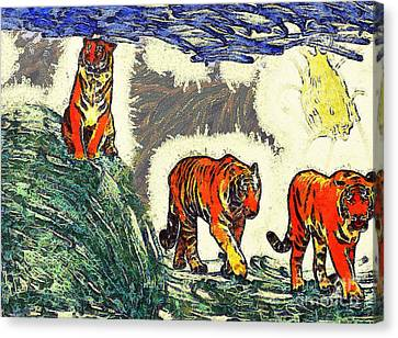 The Tigers Canvas Print by Odon Czintos
