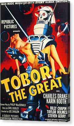 Tobor The Great, 1954 Canvas Print by Everett