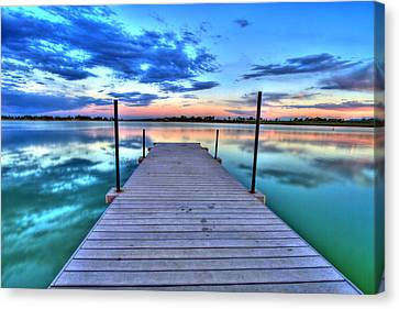 Tranquil Dock Canvas Print by Scott Mahon
