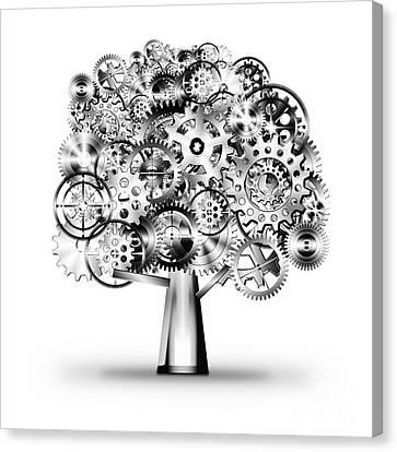 Tree Of Industrial Canvas Print by Setsiri Silapasuwanchai