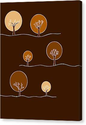 Trees Canvas Print by Frank Tschakert