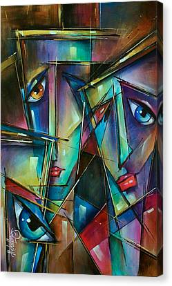 Trio Canvas Print by Michael Lang