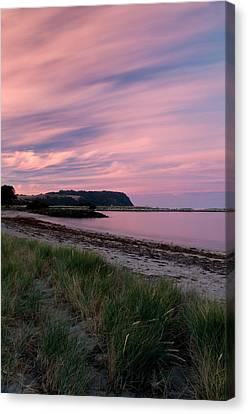 Twilight After A Sunset At A Beach Canvas Print by Ulrich Schade