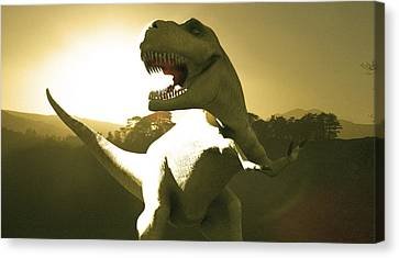 Tyrannosaurus Rex Dinosaur Canvas Print by Christian Darkin