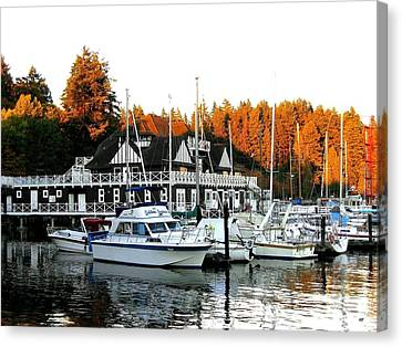 Vancouver Rowing Club Canvas Print by Will Borden