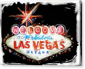 Vegas Baby Canvas Print by Russell Pierce