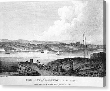 Washington, D.c., 1800 Canvas Print by Granger