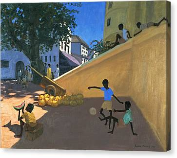 Water Melons Canvas Print by Andrew Macara