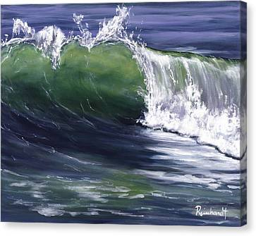 Wave 8 Canvas Print by Lisa Reinhardt