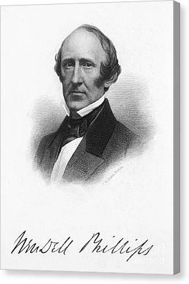 Wendell Phillips (1811-1884) Canvas Print by Granger