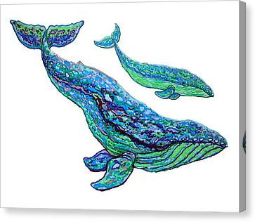 Whales Canvas Print by Nick Gustafson