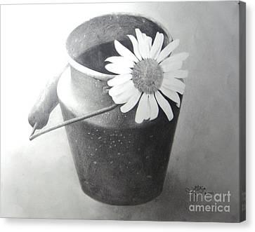 White Daisy Canvas Print by Muna Abdurrahman