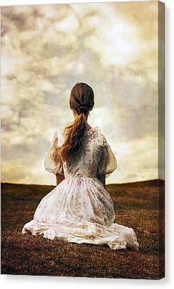 Woman On A Meadow Canvas Print by Joana Kruse