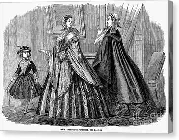 Womens Fashion, 1859 Canvas Print by Granger