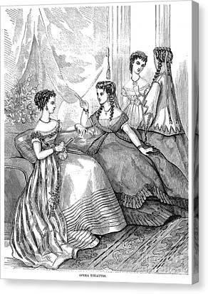 Womens Fashion, 1867 Canvas Print by Granger