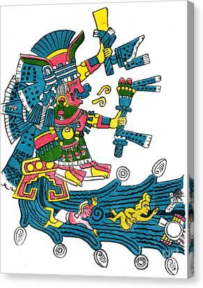 Xochiquetzal, Aztec Goddess Of Beauty & Canvas Print by Photo Researchers