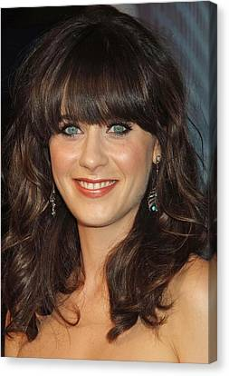 Zooey Deschanel At Arrivals For The Canvas Print by Everett