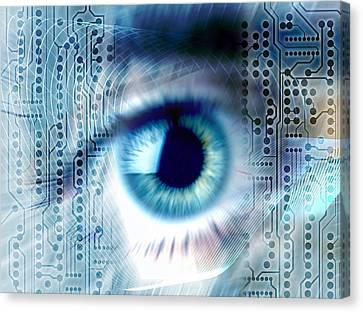Biometric Eye Scan Canvas Print by Pasieka