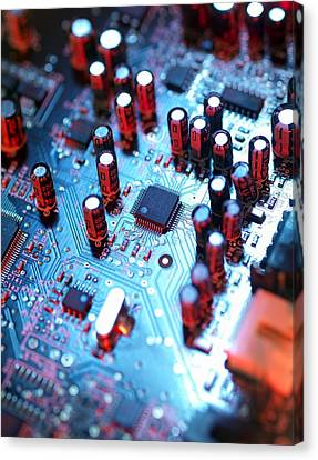 Circuit Board Canvas Print by Tek Image