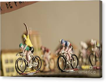 Cyclists Canvas Print by Bernard Jaubert